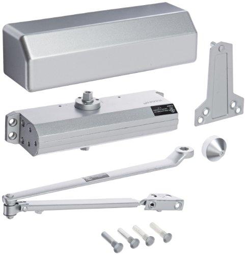 Hager - 5300M16ALM 5300 Series Aluminum Grade 1 Heavy Duty Surface Door Closer, Multi-Mount, 1–6 Adjustable Spring Size, Sprayed Aluminum Finish