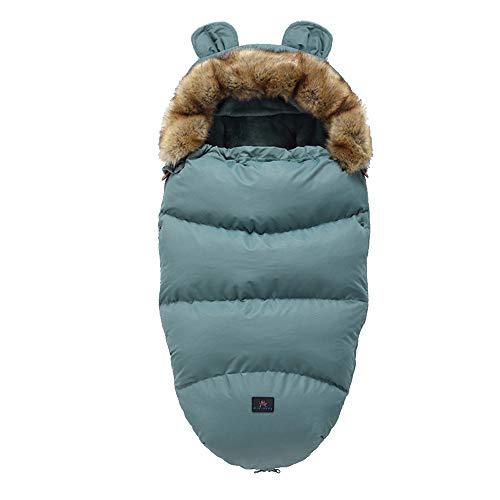Fikujap Manta de bebé Seguridad con los pies - Invierno - Manta Alineada para los portabebés/Asientos de Coches y sillas de Paseo, con Capucha,19