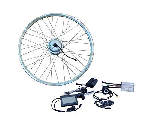 NCB Kit de conversión para bicicleta eléctrica de 20 pulgadas, rueda delantera plateada FWD 250 W, kit de disco + cable de freno V resistente al agua IP65 36 V ENC36250-20-FWD 20