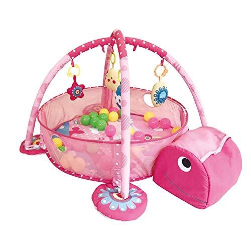 JKMQA dx Toys Baby Fitness Frame Manta de gateo multifunción para valla de gateo con libro de tela para iluminación de juguetes para niños y niñas (Color: C)