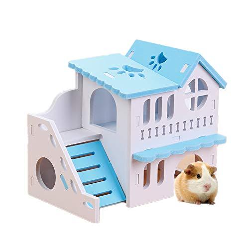 KunLS Casa Hamster Casita para Animal Doméstico Juguetes Hamster Accesorios Hamster Jaula...