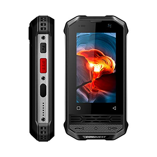 Móvil Libre Resistente,Conquest F2 Luxury Version 120dB Subwoofer Global 4G Mini IP68 Intercomunicador PoC,Cámara 13MP+5MP, Face ID,NFC,FM,Control Remoto por Infrarrojos,Linterna Ultrabrillante