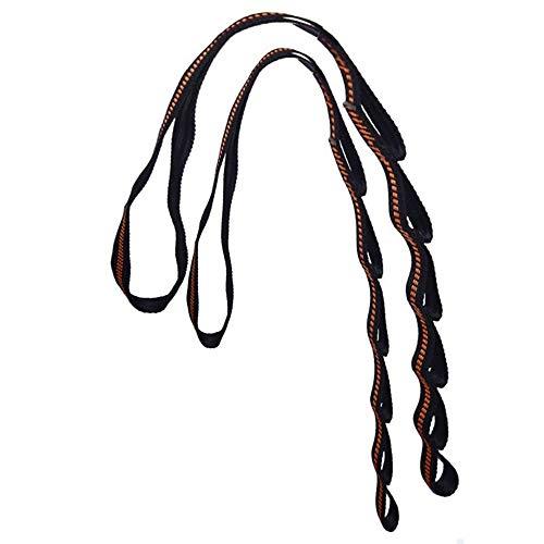 xingqiwu - Juego de correas para hamaca con sistema de suspensión para árbol con triple costura reforzada y versátil, resistente para bolsa de transporte, hamacas y columpio