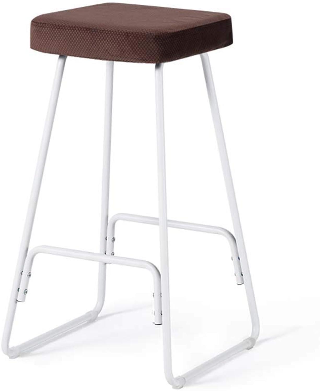 Bar stool Wrought Iron bar stool Modern Minimalist Fabric stool bar stool 9 colors Optional