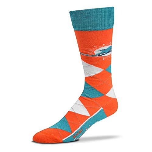 For Bare Feet - NFL Argyle Lineup Herren Crew Socken - Einheitsgröße passt den meisten - mehrfarbig - Einheitsgröße