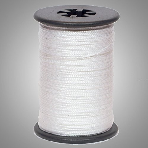 """White/ Clear BCY .014"""" Braided Spectra Serving Material Spool Bow String"""