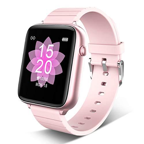 Smartwatch Fitness Tracker, 1.54 Zoll Fitness Armband IP68 Wasserdicht Smart Watch Mit Schlafmonitor Pulsuhren Schrittzähler Armbanduhr Herren Damen Sportuhr Für IOS Android Black