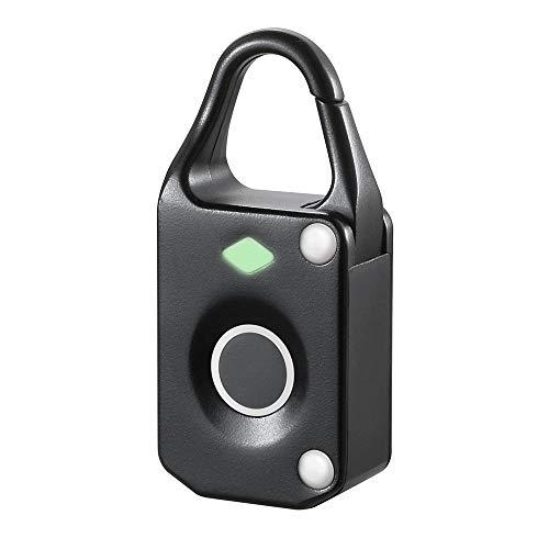 Vingerafdruk-padlock-sluiting voor gym lockers, vingerafdruk hangslot Keyless biometrische geschikt voor gym vingerafdruk padlock 6.2x1.5x2.8cm wit