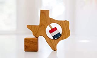 Texas State Wooden Baby Rattle ™
