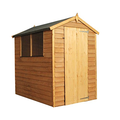 WALTONS EST. 1878 Wooden Garden Shed 6x4 Outdoor Storage Building, Overlap, Apex Roof (6 x 4 / 6Ft x 4Ft)