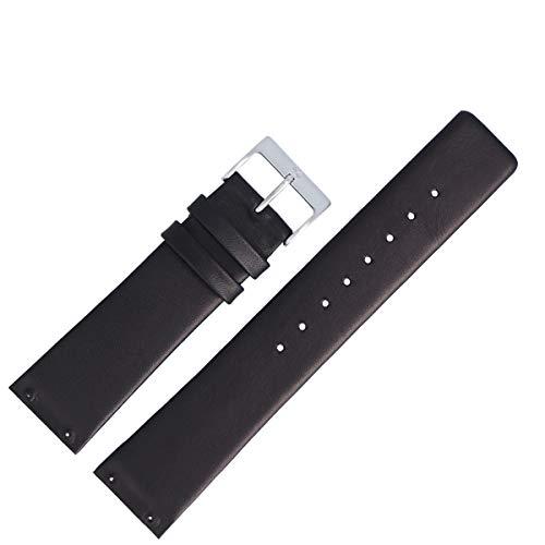 Skagen Uhrenarmband 22mm Leder Schwarz - 233XXL