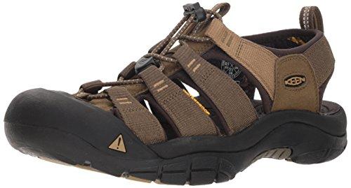 KEEN Men's Newport Hydro-M Sandal, dark olive/antique bronze, 10 M US