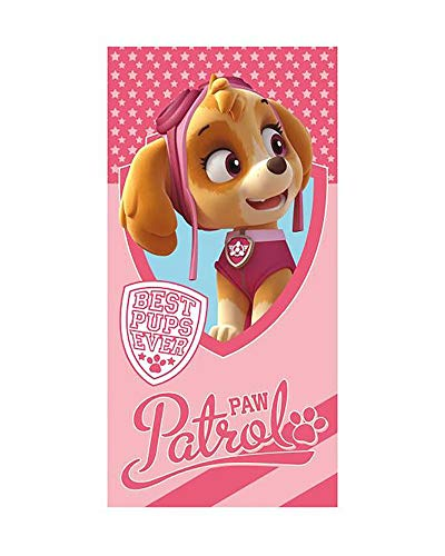 profesional Toalla de Playa Patrulla Canina, Paw Patrol 70x140cm Poliester (Skye Rosa)