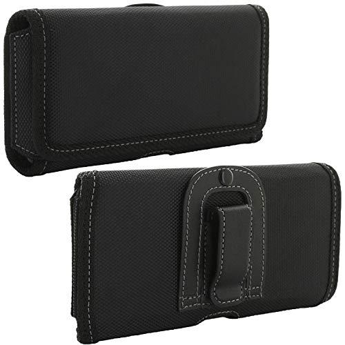 Handy Gürteltasche mit Gürtelclip 5XL V4 / Smartphone Tasche passend für Cat S52 / Huawei Honor 9X / Samsung Galaxy A21s A70 A71 A90 / Xiaomi Redmi Note 8t 9s / 9 Pro - Handytasche schwarz