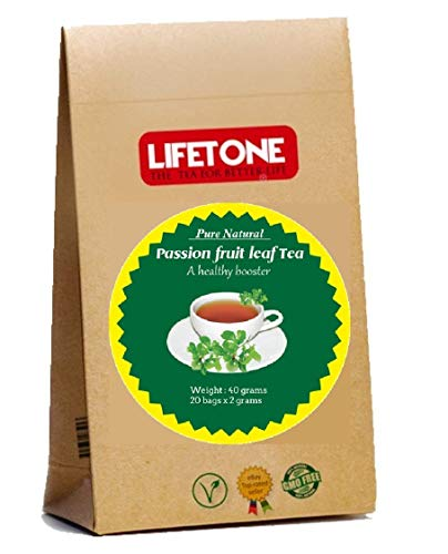 Té de hoja de maracuyá | Té para aliviar el estrés | Después del refuerzo de trabajo | Deliciosas 20 bolsitas de té
