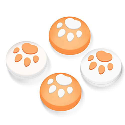 【Switch/Switch Lite 対応】アナログスティックカバー 保護カバー (4個セット) 猫 肉球 アシストキャップ ...