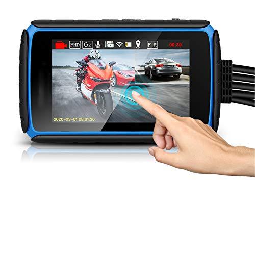 N&F Cámara de acción 1080p FHD 30 FPS Impermeable con Pantalla táctil WiFi con Kit de Accesorios de Montaje Dash CAM para Coche Lente Gran Angular