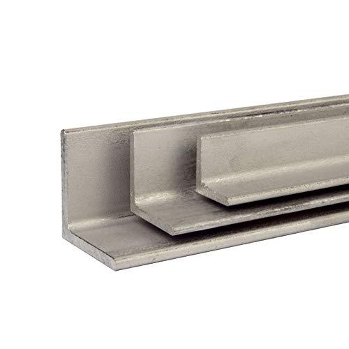 VA Winkel Profil Edelstahl V2A Winkeleisen Oberfläche blank FRACHTFREI Länge 500 mm Abmessungen 40 x 40 x 4 mm