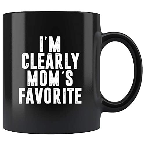 N\A Claramente Soy la Taza de café Negra de 11 oz Favorita de mamá