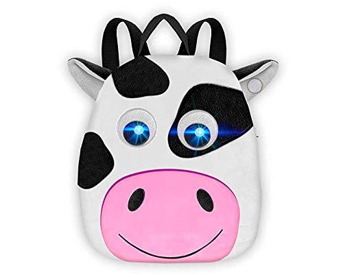 Bauernhof Tiere Kindergarten Kuh Rucksack | Licht Und Ton Rucksack | Spaß Interaktiver 3D Vorschulrucksack | Kinder Kleinkinder Reisen Schultasche |