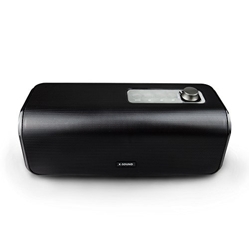 Bluetooth Speakers, 1STPLAYER X-Sound 30W Portable Bluetooth 4.0 Wireless Stereo HD Speaker w/Loud, Powerful Bass, USB Flash Drive Support & PowerBank Perfect for Beach, Pool, Golf & Home - Black