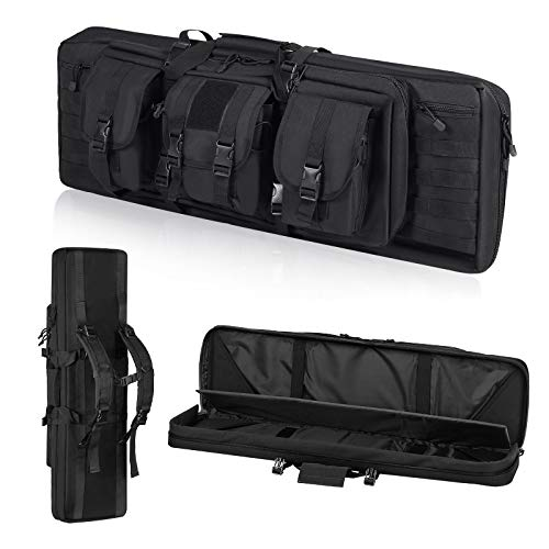 """ORHFS Double Long Soft Rifle Case, American Classic Durable Tactical Carbine Rifle Bag & Multi-Function Gun Bag, Fit for Rifle and Pistol Storage or Transportation,Available Length in 36"""""""