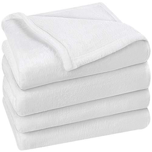 Utopia Bedding Fleecedecke Queen Size, weiß, 300 g/m², Luxus-Bettdecke, flauschig, weiche Decke aus Mikrofaser.