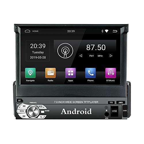 LEXXSON Autoradio 1 din Android 9.0, Touchscreen capacitivo TFT da 7  Autoradio GPS Navigazione con RDS LED USB SD Wifi Bluetooth Supporto Ingresso Fotocamera Posteriore Mirror Link (2G RAM 32G ROM)