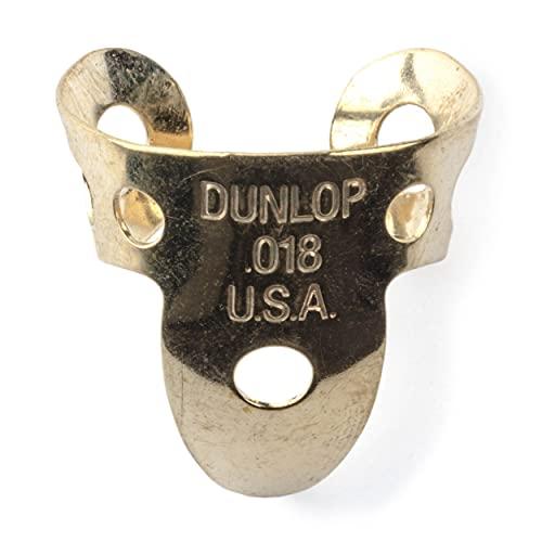 """Dunlop 37R.018 Brass Fingerpicks, .018"""", 20/Tube"""