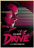 HUYUEXIN Leinwand Poster Ryan Gosling Classic Movie Drive