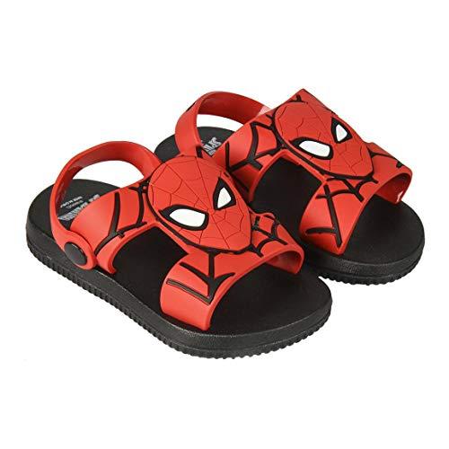 Spiderman, Sandalia de Playa Licencia Oficial Marvel, Rojo, 25 EU