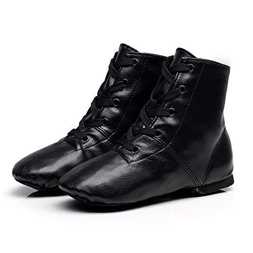 STMMXM PU high-top Jazz Shoes Men's Adult wear-Resistant Soft-Soled Women's Dance Shoes Children's Dance shoes-36