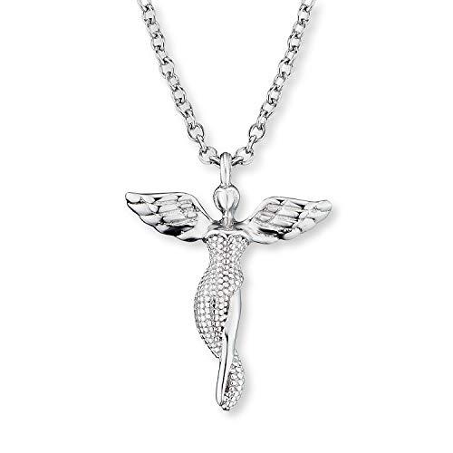 Engelsrufer - Damen Halskette mit Engel Anhänger aus 925 Sterlingsilber, filigrane Frauen und Mädchen Schutzengel Damenhalskette mit Kettenanhänger, echtsilber Schmuck Kette