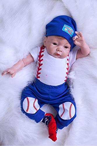 YYSDH 55 cm 22 Pulgadas de Silicona Suave de Vinilo Hechos a Mano muñecas realistas Chica de la Vida Real bebé recién Nacido con muñecas maniquí del bebé Renacido