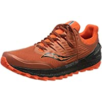 Saucony Xodus ISO 3 - Zapatillas de Running para Hombre, Naranja (Orange/Black 36), 43 EU
