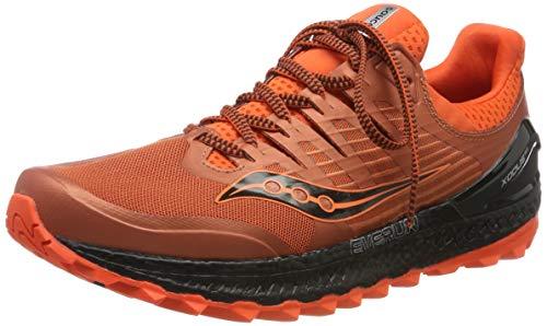 Saucony Xodus ISO 3, Zapatillas de Running para Hombre, Naranja (Orange/Black 36), 42.5 EU