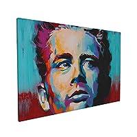 James Dean (2) アートパネル ポスター 壁掛け 壁絵 壁 キャンバス モダン画布 絵画 飾り おしゃれ 風景 玄関 インテリア 寝室 贈り物 フレーム 装飾画 40cm X 60cm (40×60×1.5)