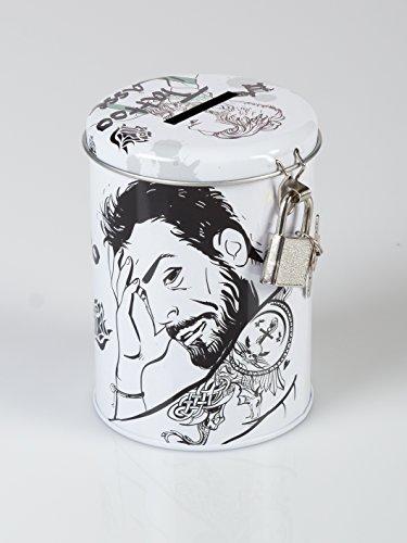 Topshop24you wunderschöne Spardose,Sparbüchse Tattoo,sparen für das Tattoo,Tattookasse for Men