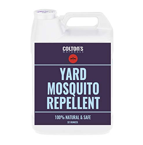 Colton's Naturals - Mosquito Repellent for Yard - Repellent Outdoor Yard Spray for Home, Lawn, Patio, Garden - Yard Perimeter Outdoor Concentrate Spray Barrier- Naturally Safe for Kids & Pets 128oz