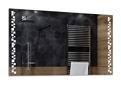 ALASTA® Miroir   Miroir LED Premium   200x80cm   Detroit   Nouvelle Génération Miroir avec Accessoires   Blanc Froid/Chaud en Option