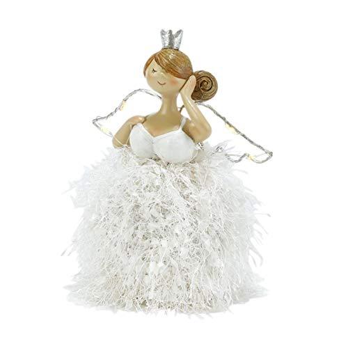 Pureday Weihnachtsdeko - Dekofiguren Angels 2er Set - Weihnachtsengel - LED Beleuchtet - Weiß