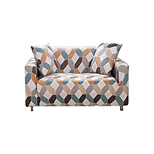 En Forma de U Cubierta de sofá Universal Universal Protector contra el Polvo Ins Estilo de Verano con Todo Incluido (Color : Blue, Size : 3 Sitzer)
