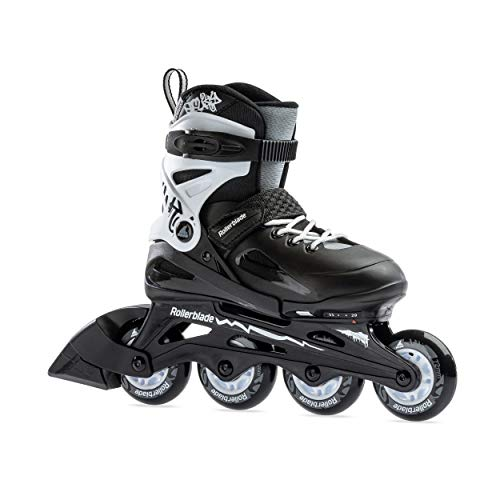 Rollerblade Fury Boy's Adjustable Fitness Inline Skate,Junior, Youth Performance Inline Skates, Black/White, 2-6