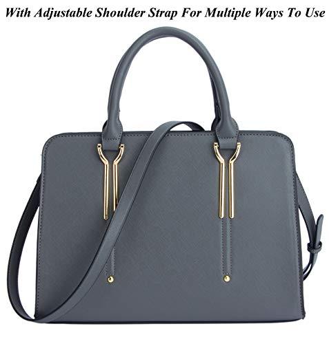 Dasein Frame Tote Top Handle Handbags Satchel Leather Briefcase Shoulder Bags Purses