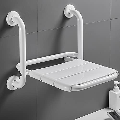 YZILXY Klappbarer Duschstuhl Mit Armlehne, Duschsitz Wandmontage Für Senioren, 2 In 1 Multifunktions-Faltbare Badezimmer-Duschbank Für Schwangere Heimwerker