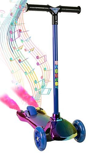 Airel Kinderroller 3 räder | Klapproller für Kinder | Scooter für Kinder mit Musik | Tretroller Kinder | Roller LED-Räder | Kinder Scooter Klappbar | Roller für Kinder von 3-8 Jahren (Regenbogen)