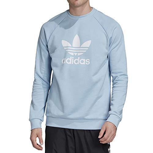 adidas Herren Trefoil Crew Sweatshirt, Clear Sky, L