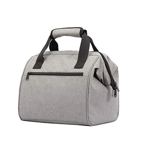 Bolsas de Almuerzo Aislamiento de tela Oxford bolsa impermeable al aire libre del recorrido con arroz refrigerado portátil Picnic bolsa Para Playa/Picnic/Deportes ( Color : Gray , Size : 27x20x26CM )