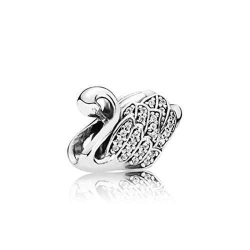 Pandora 791732CZ Majestic Swan Charm