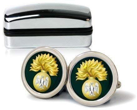 Royal Irish Fusiliers Chrome Boutons de manchette pour homme avec coffret cadeau